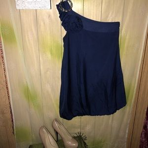 Guess by Marciano deep blue bubble dress.